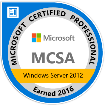Microsoft Windows 2012 Certified